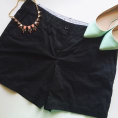 Black Loft Shorts These cute and versatile black shorts by Loft are a great staple for any closet! These are in very good condition and are a size 10! Check these out! LOFT Shorts