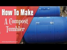 How to make A compost tumbler from a pickle or water barrel. A compost tumbler allows you to prepare dark, rich, nutrient-dense compost for your garden using. Organic Compost, Organic Gardening, Gardening Tips, Compost Barrel, Garden Compost, Rain Barrel Stand, Rain Barrels, Best Compost Bin, Compost Tumbler