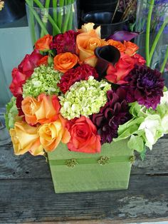 Fall flower arrangement by Every Bloomin' Thing Fine Flowers-Costa Mesa Ca