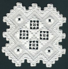 Hardanger embroidery h42 by loreleiterry, via Flickr