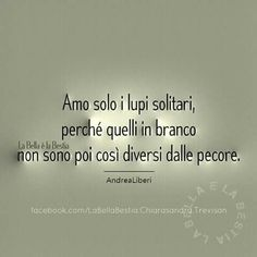Il lupo solitario fa la sua scelta per coraggio,chi si mette in branco per vigliaccheria .The lone wolf make his choice for courage, who puts in flock for cowardice Quotes Thoughts, Words Quotes, Life Quotes, Sayings, Deep Words, True Words, Verona, Phrases About Life, Unforgettable Quotes