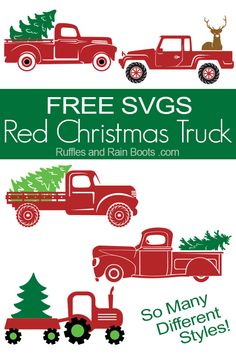 Use these free Christmas truck SVG files and let the holiday crafting begin. From build-your-own to done-for-you, click through to get the free cut files. ChristmasSVG freeSVG freecutfiles cricut silhouette farmhouseChristmas via 635992778613095615 Christmas Truck, Noel Christmas, Christmas Projects, Holiday Crafts, Halloween Crafts, Vinyl Christmas Ornaments, Cricut Christmas Ideas, Christmas Decals, Christmas Onesie