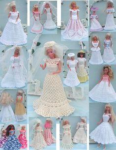 Crochet Fashion Doll Barbie Pattern 281 by JudysDollPatterns
