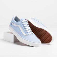 Nice Kicks // Vans Old Skool Sneakers in Skyway Blue.
