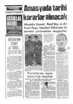 Haziran 1919 İSTİKLAL HARBİ GAZETESİ Turkic Languages, Semitic Languages, Turkish War Of Independence, Old Newspaper, Newspaper Headlines, Horse Meat, Dna Genealogy, Historical Pictures, Once Upon A Time