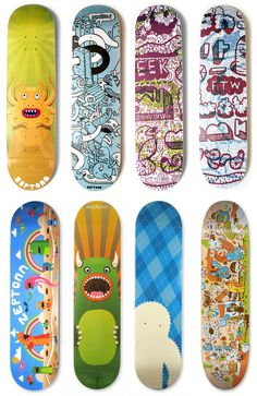 Zeptonn Skateboard Art | Monster eating the registration?