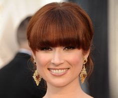 Pin for Later: The Most Iconic Oscars Beauty Missteps of All Time Ellie Kemper, 2012 The Office star got a little lost behind all those blunt bangs.