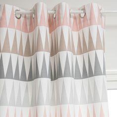 Rideau à œillets en coton rose 110 x 250 cm TRENDY | Maisons du Monde