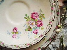 Shabby chic vintage china dishes