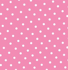 free pink polka dot printable page or digital background.