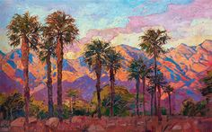 La Quinta mountains original oil painting by modern impressionist painting