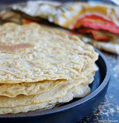 3-Ingredient Chickpea Oat Tortillas {Vegan, Gluten-Free} | power hungry Chickpea Flour Recipes, Oat Flour Recipes, Recipes With Flour Tortillas, Gluten Free Tortillas, Bread Recipes, Oat Flour Tortilla Recipe, Coconut Flour Tortillas, Vegan Tortilla, Oatmeal Flour