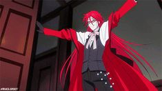 Black butler. Grell, the most fabulous of grim reapers.