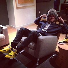 "Nick Young wearing the Air Jordan 4 ""Lightning"""