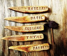 Herb Vegetable Garden Markers Plant Signs Set by unconventionalJ