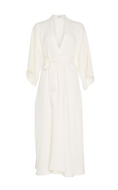 Heavy Silk V-Neck Shirtdress by Tome for Preorder on Moda Operandi