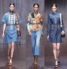 Gucci Spring Summer 2015 Blue Denim Look Collection