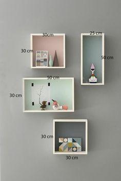 Kids Wall Shelves, Wall Bookshelves, Wall Shelves Design, Wood Shelves, Wall Design, Floating Shelves, Kids Shelf, Bedroom Decor, Wall Decor
