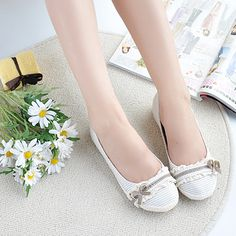 Front Lace Canvas Flat Casual Women's Shoes Sneakers | Wedding ...