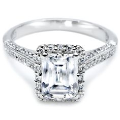 Emerald Cut Engagement Rings On 3