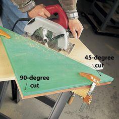 Circular Saw Cutting Guide — The Family Handyman Woodworking Saws, Intarsia Woodworking, Woodworking For Kids, Woodworking Techniques, Woodworking Furniture, Woodworking Projects, Woodworking Quotes, Woodworking Store, Woodworking Blueprints