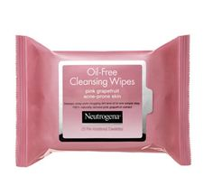 Neutrogena Oil Free Pink Grapefruit Face Wipes-smell great, remove makeup, control & treat break-outs...its a win-win situation!! :)