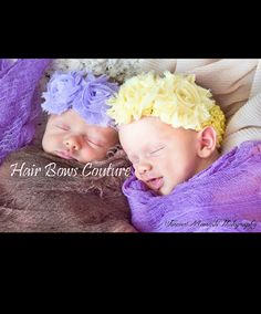 Pick 2-Infant Baby Girl Shabby Flower Headbands от HairBowsCouture