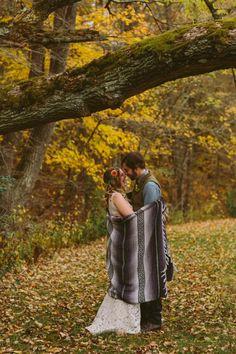 boho wedding. bohemian. lauren + cole | Ines Gown by Tadashi Shoji for BHLDN | #BHLDNbride