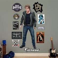 WWE Dean Ambrose Peel and Stick Wall Decal
