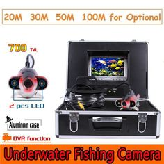 CR110-7J DVR Waterproof Underwater Camera with 2pcs Highlight White LEDs 20M to 100M Cable #underwatercameras