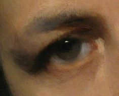 Painting the eye - John Singer Sargent's portrait of Carolus Duran (detail) Not a real line anywhere