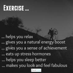 Most people take up exercise because they want to lose weight or tone up and these are valid reasons to start exercising. Exercise is also important for our mental health. Every anxiety patient who walks thru my door is encouraged to exercise. How To Better Yourself, Improve Yourself, Natural Remedies For Depression, Stress Busters, Anxiety Treatment, Benefits Of Exercise, Healthy Diet Plans, Loving Your Body, Tone It Up