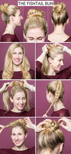 Change up your bun with this super easy style.