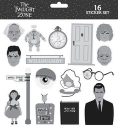 The Twilight Zone Sticker Set by ~ChrisMMiller on deviantART