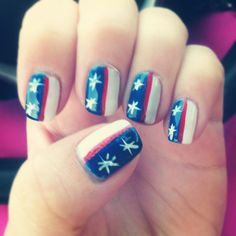 Fourth of July finger nail design! Quick and easy for anyone!