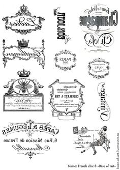 Discover recipes, home ideas, style inspiration and other ideas to try. Decoupage Vintage, Vintage Diy, Printable Labels, Printables, Collages D'images, French Typography, Etiquette Vintage, Foto Transfer, French Chic