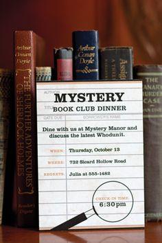 Mystery Book Club Dinner