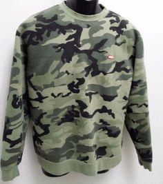 OBEY Green Black Camo Crewneck Camouflage Sweatshirt Mens Size MEDIUM #OBEY #SweatshirtCrew
