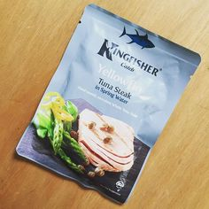 #goodmorning!  I am VERY #excited about this right here.  I think I have found the perfect #Onthego #proteinsnack!  Found it in the #Asda with the tinned #fish. Just plain and simple #tuna in spring water! I don't know about you but I really struggle for #lowcarb #snacks out and about.  So yeah. I am CRAZY buzzed about being the girl walking around with a #tunasteak in her handbag.  by kimchristina