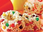 Candy-Speckled Popcorn Cakes