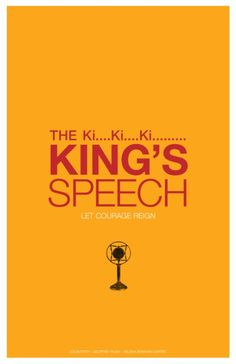 King's Speech alternative movie poster - check out my blog at http://www.cautioustrain.com/blog for collections of the best alternative movie posters