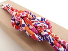 Spring-SUmmer 2014 Eight Knot bracelet in Kaylie Sunshine print tana lawn.