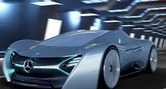 The futuristic ELK electric supercar concept, is a proposal for Mercedes Benz. The ELK Mercedes electric concept car, designed by Antonio Paglia. Mercedes Sports Car, Mercedes Models, Mercedes Benz, American Graffiti, Electric Car Concept, Electric Cars, Mercedes Electric, Harrison Ford, Car Brands