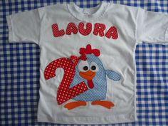 Camiseta 100% algodão  Personalizada galinha pintadinha, com nome e idade de seu Bebê  Encomende já a sua