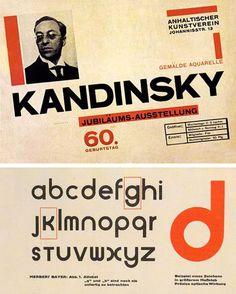 Herbert Bayer - Bauhaus typography - Poster & Universal Font