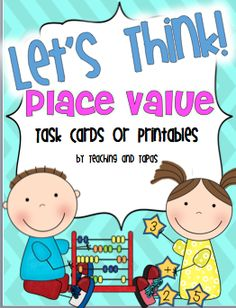 FREE Place Value task cards and printable