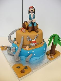 Jack Sparrow By het_bonte_taartje on CakeCentral.com