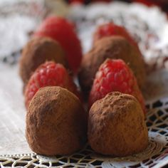 rose chocolate raspberry truffles