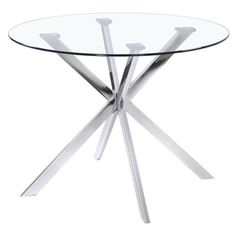 'Baton' Clear Dining Table | Overstock.com Shopping - The Best Deals on Dining Tables