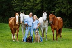Pretty much my dream family with Jordan ;) 4 horses and two dogs :)